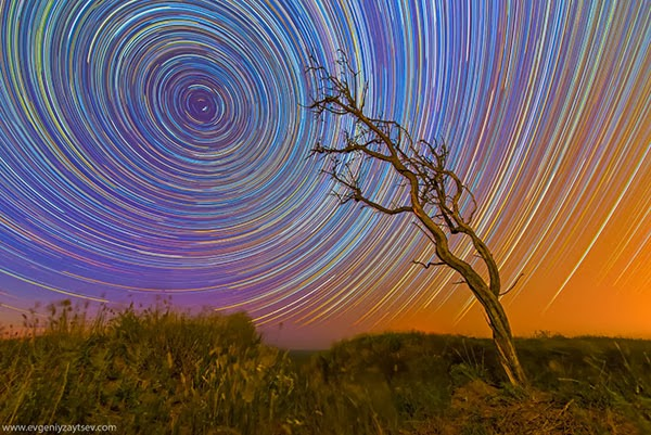 Startrails: Photos by Evgeniy Zaytsev