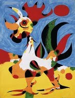 Le coq, Joan Miró