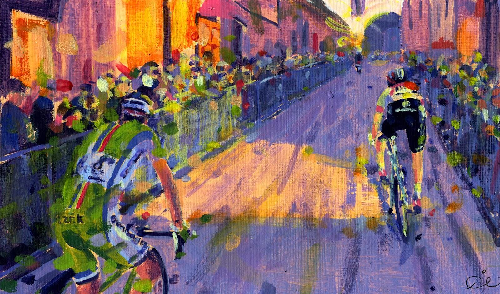 arte y ciclismo Stradabianchi
