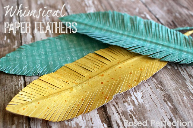 Whimsical Paper Feathers