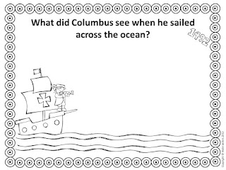 Columbus Day black and white