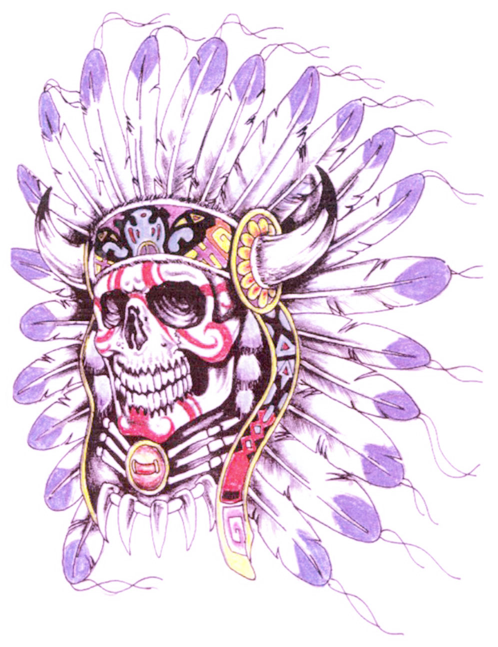 get free drawing and sketching references with video help tribal skull tattoo design free download. Black Bedroom Furniture Sets. Home Design Ideas