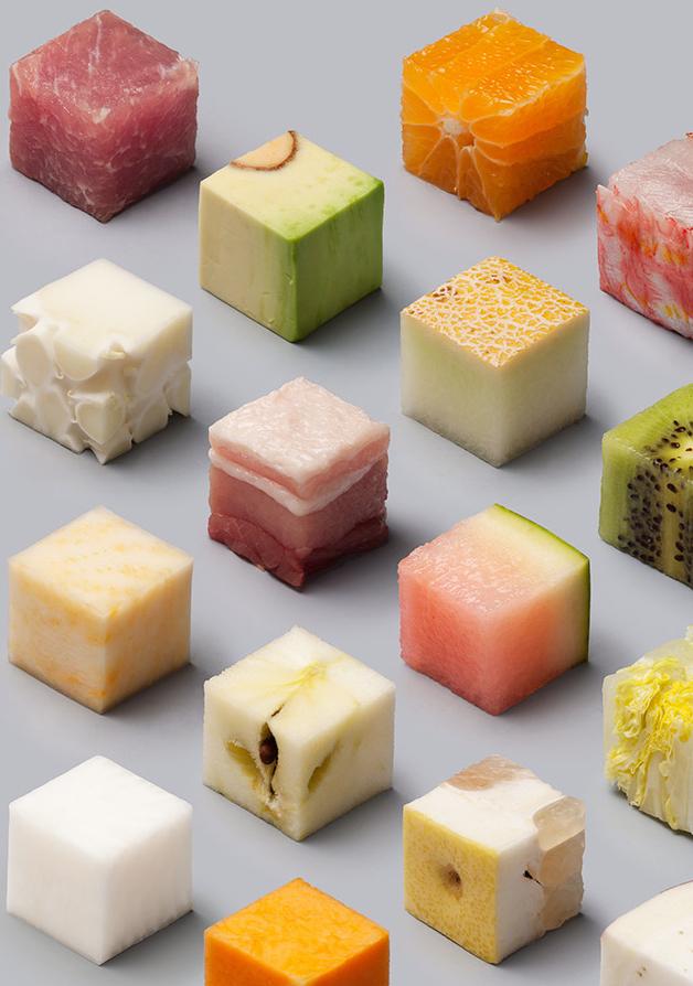 Kubus-kubus Identik dari Bahan Makanan Asli - Aneh Tapi Nyata