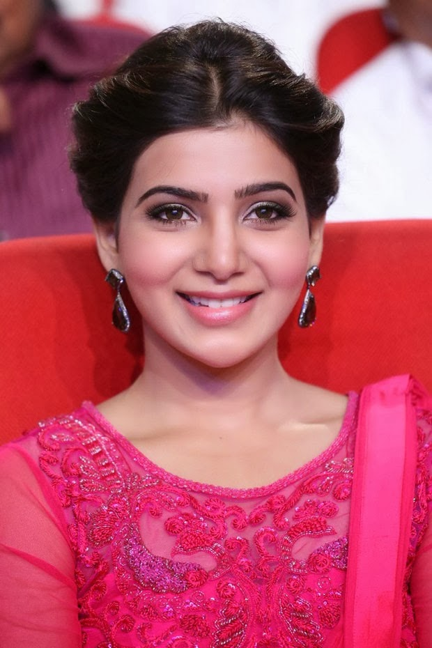 actress samantha latest pink saree photos
