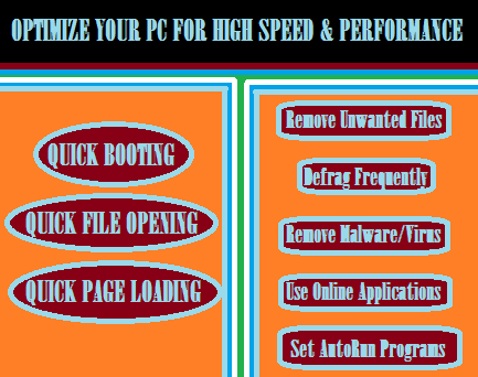 Easy ways to Boost up your computer Speed