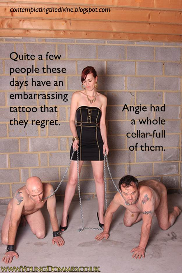 collar Femdom caption slave male