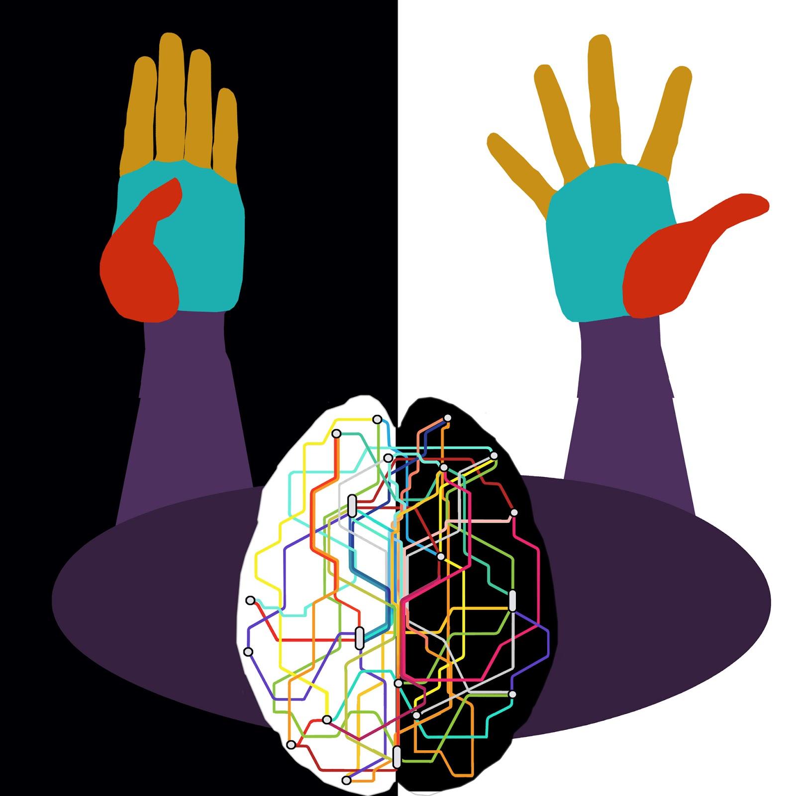 conexiones neuronas, mano