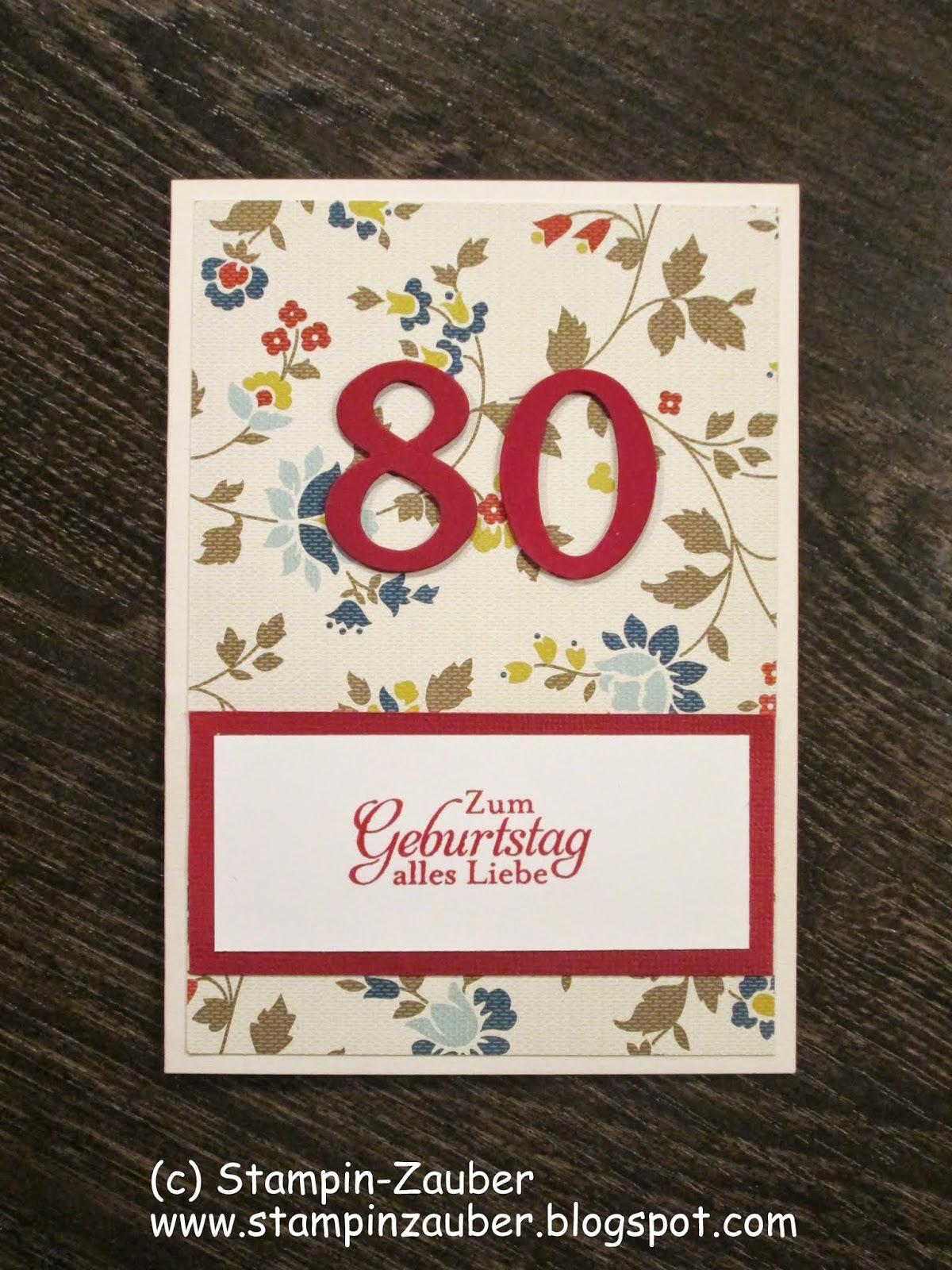 stampin zauber eine weitere karte zum 80 geburtstag. Black Bedroom Furniture Sets. Home Design Ideas
