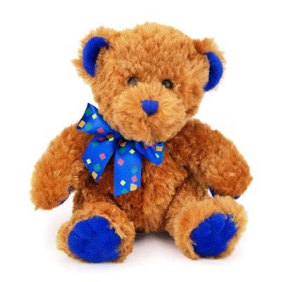 Teddy Bear Cokelat Pakai Dasi Warna Biru