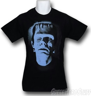 Click here to purchase your Big Blue Head Frankenstein t-shirt at SuperHeroStuff!