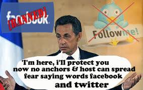 sarkozy ban facebook and twitter