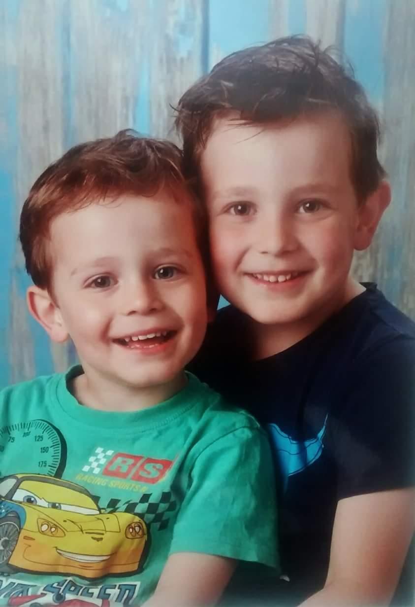 Onze kleinkinderen Casper en Thomas