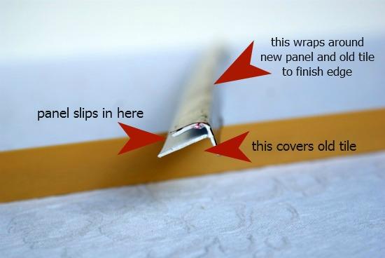 Tile backsplash trim pieces