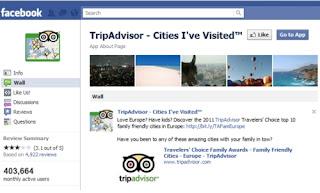 Mejor Aplicación de Viajes en Facebook