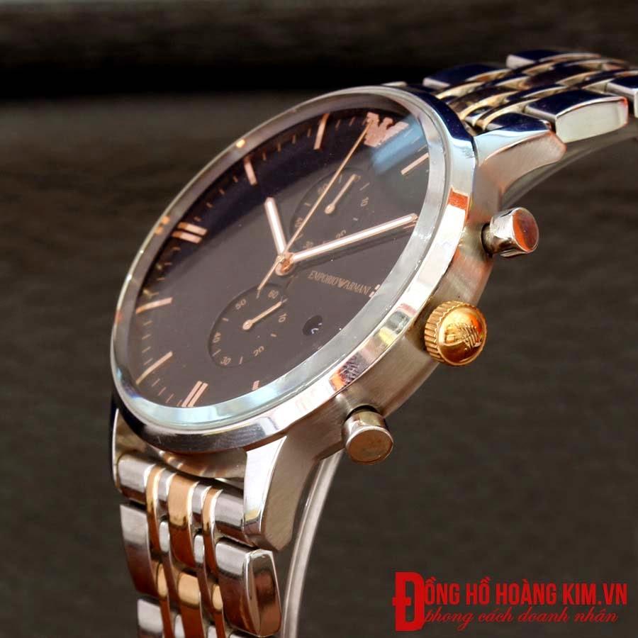 Đồng hồ armani dây sắt