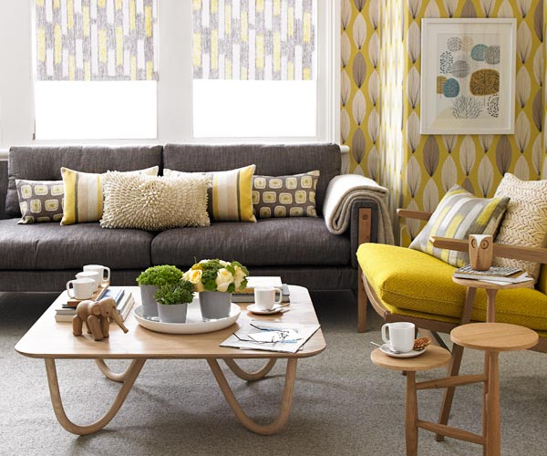 Bright home mustard yellow senf uta - Decorating with mustard yellow ...
