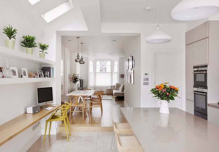 Open Plan Living Design open-plan kitchen and living room | norse white design blog