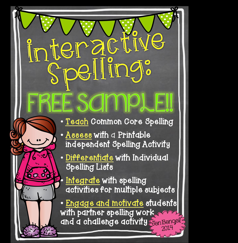 http://www.teacherspayteachers.com/Product/FreebieInteractive-Spelling-With-The-Common-Core-1165048