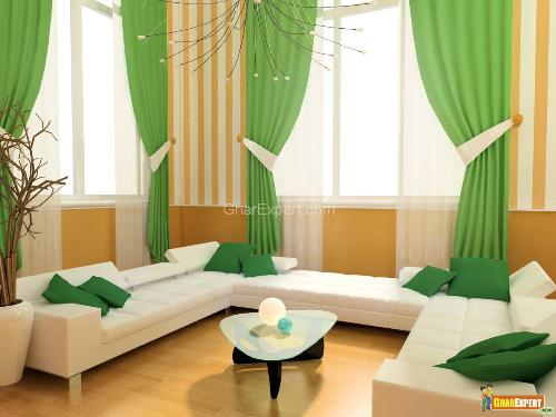 Future Dream House Design  Window Curtain Living Room Ideas
