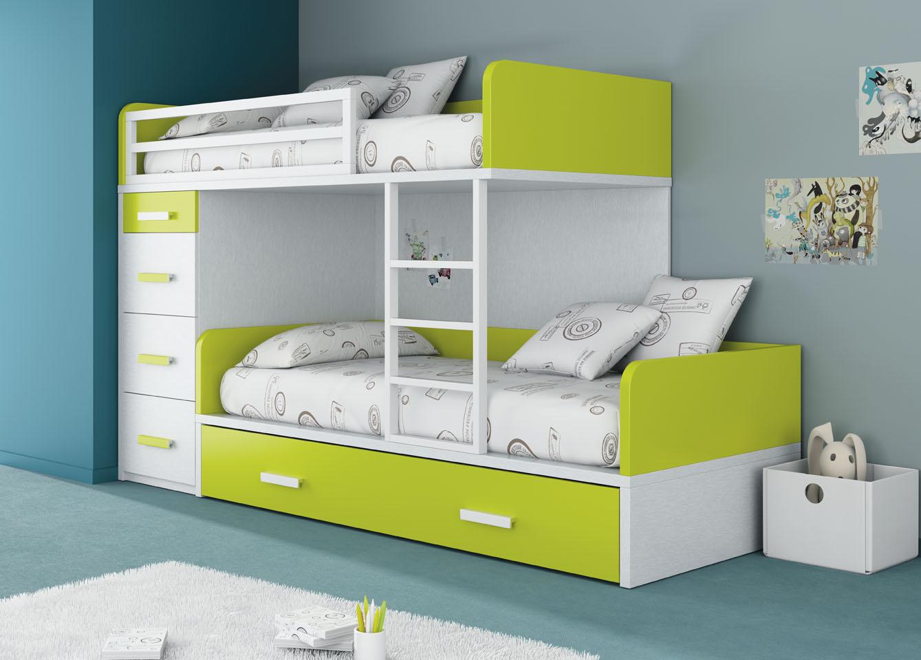 Camerette per bambini inseparabili mobili ros letti a castello letti a scomparsa letti - Cameretta letto a castello ...