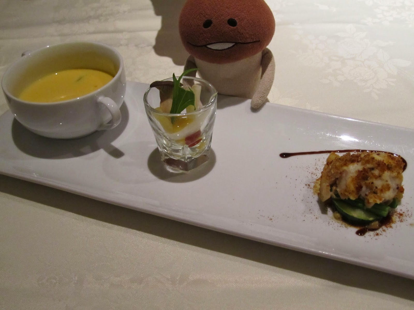 Hotel Neuschloss Otaru Blau Kuste turbot (a type of flatfish) gratin and carrot soup