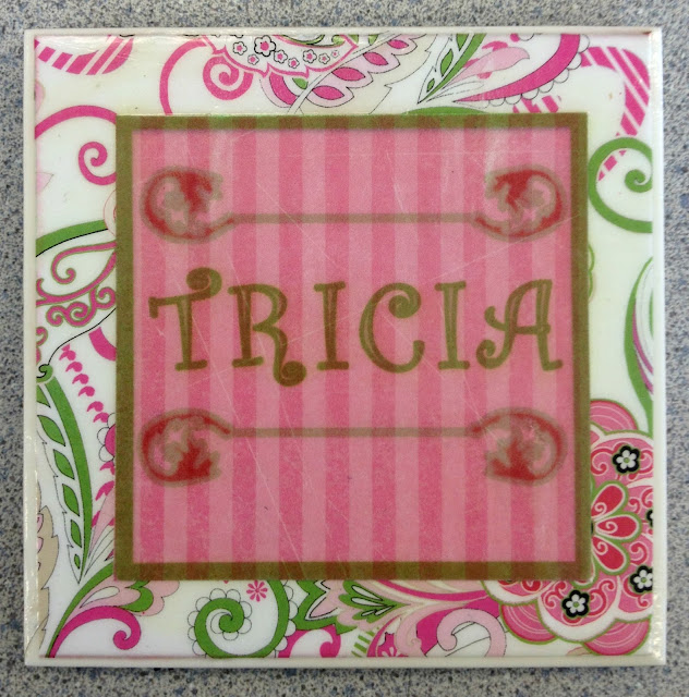 Coaster design with pinks