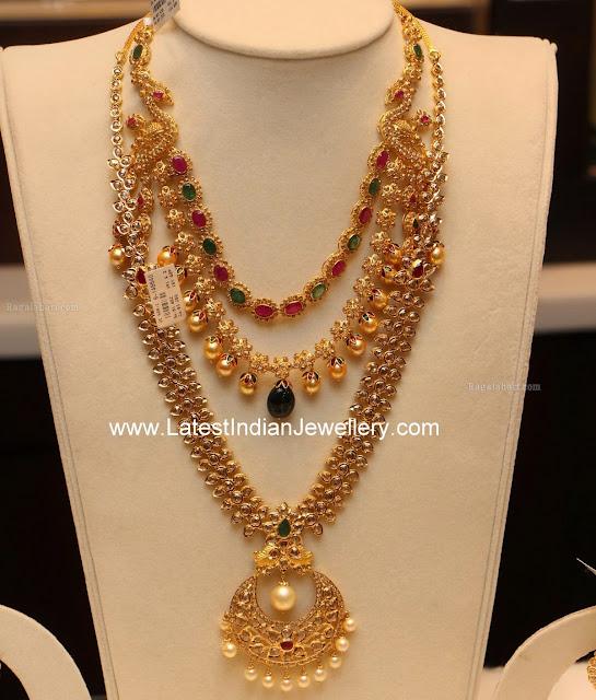 pachi haram uncut step necklace