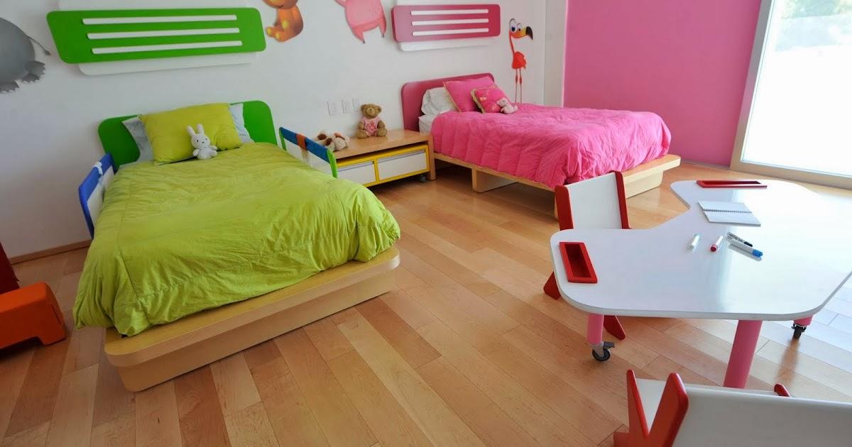 Dormitorio infantil mixto dormitorios compartidos para - Dormitorio de nina ...