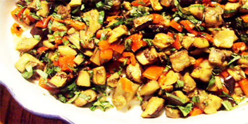 Ensalada de berenjenas recetas de cocina cocinar facil for Cocinar berenjenas facil