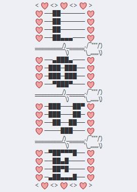 Texto ascii facebook amor