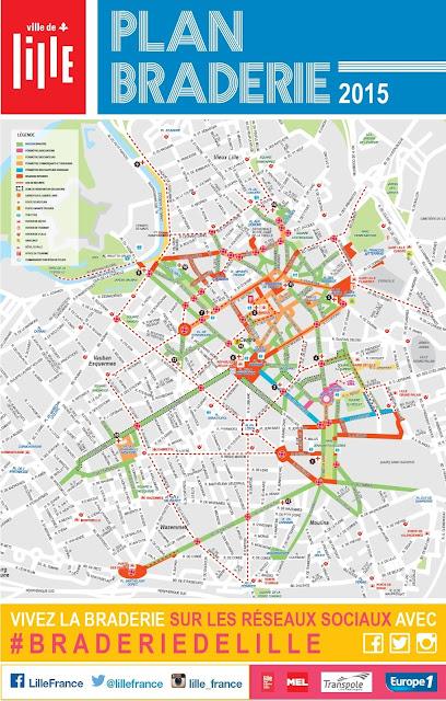 plan braderie Lille 2015 Nord