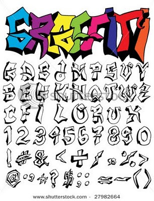 graffiti font styles. Combination style of writing