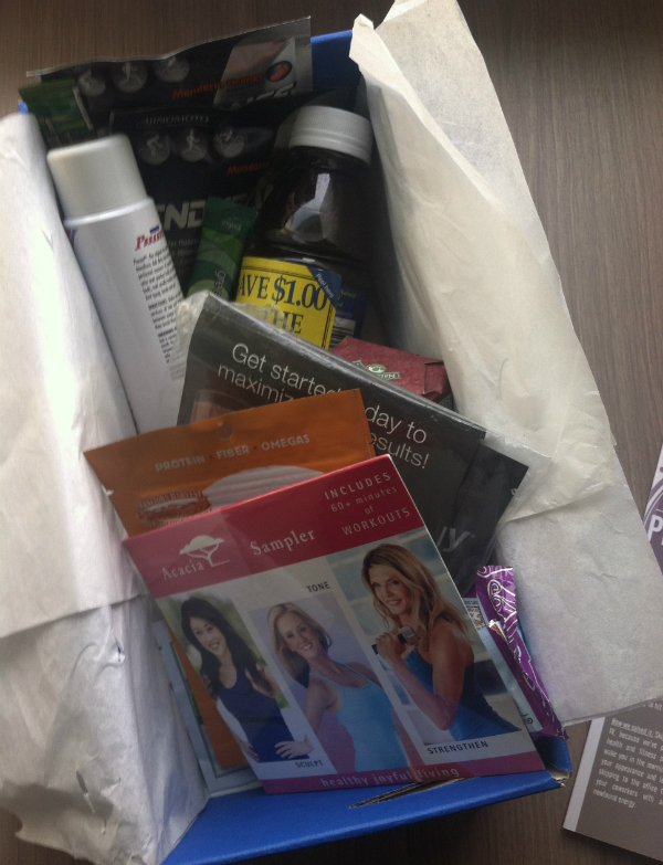 KLUTCHclub Box - November 2012 Review - Women's Fitness and Supplements Subscription Boxes