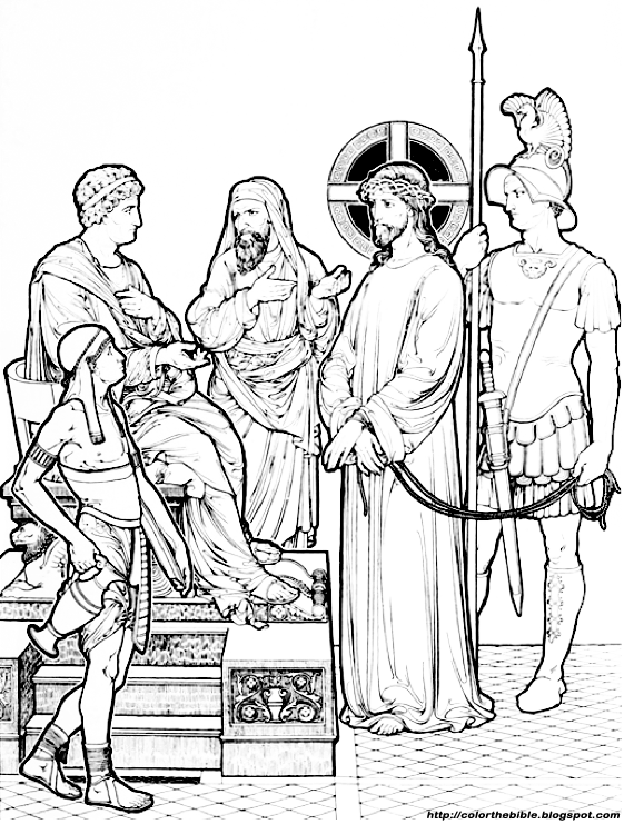Christ Before Pilate  Color The Bible