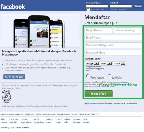 Langkah 1 Cara Membuat FB