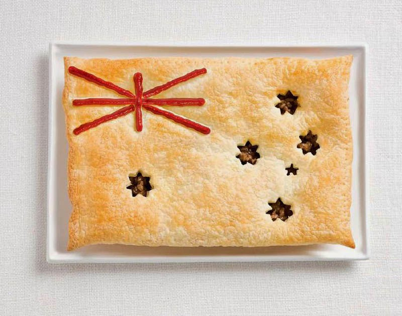 18 National Flags Made From Food - Australia