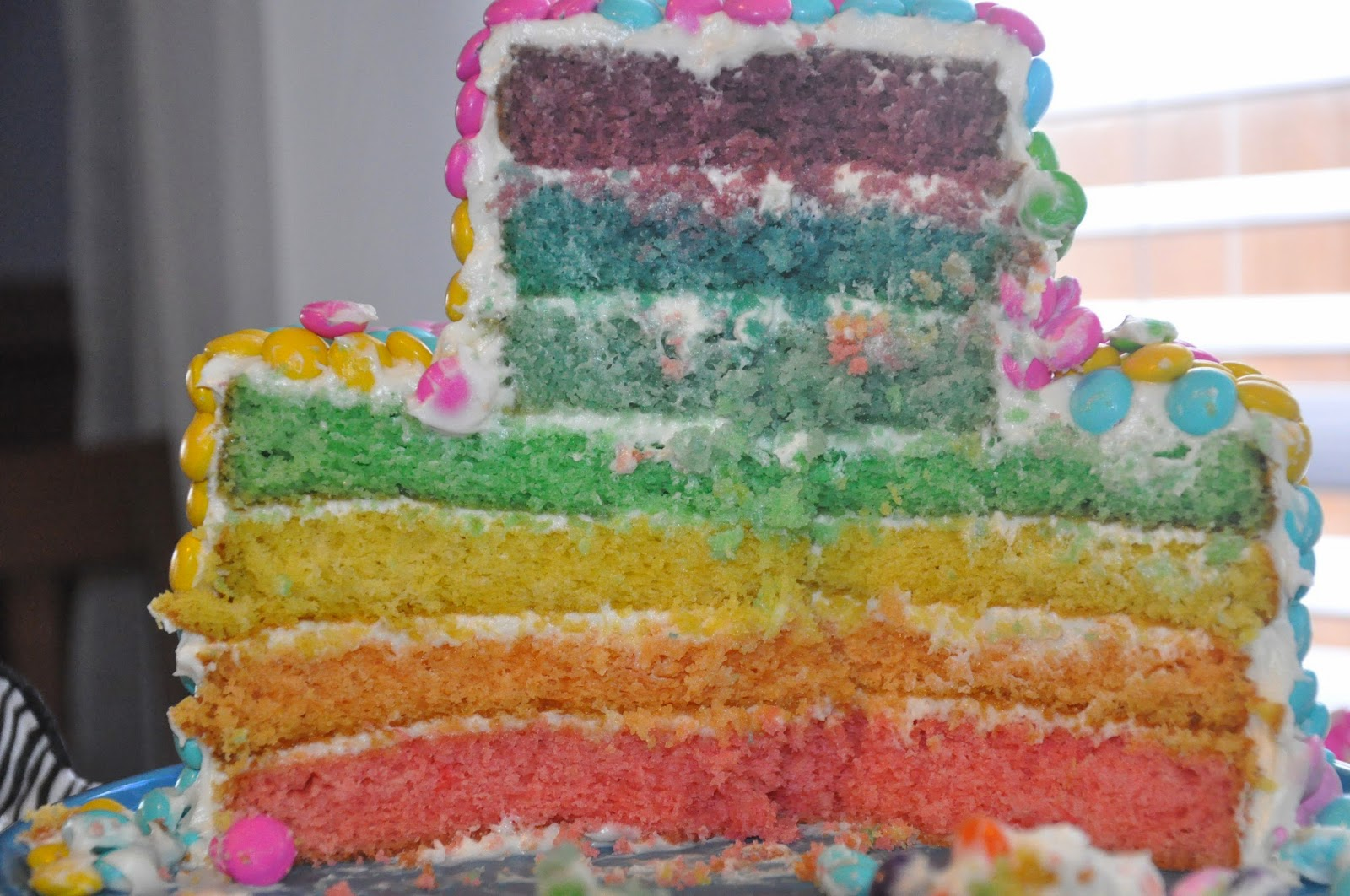 I think I could do that Rainbow MM Birthday Cake