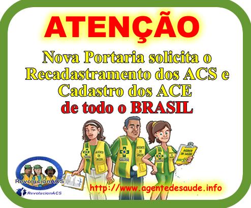 PORTARIA%2B121 Nova Portaria solicita o Recadastramento dos ACS e Cadastro dos ACE de todo Brasil no CNES