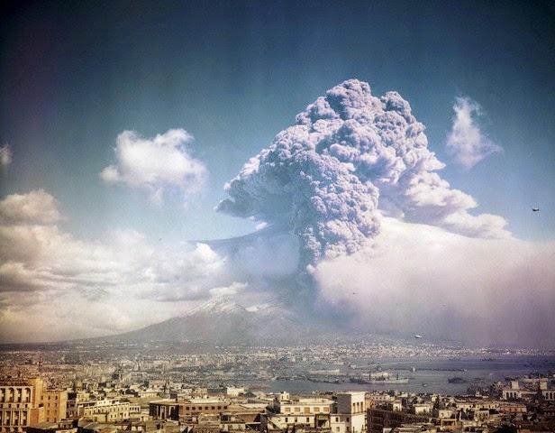 Vesubio en erupción