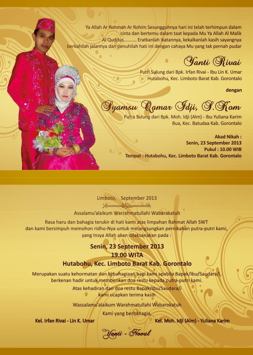 Design Undangan Pernikahan Model Alya H001