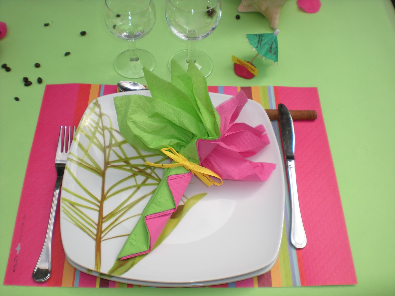 Pour les marque places une petite ile en p te modeler - La table exotique ...