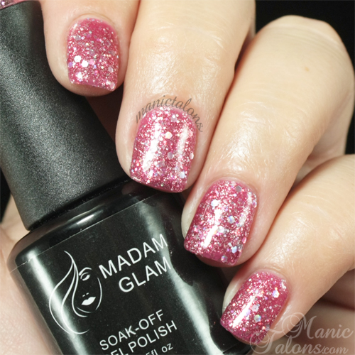 Madam Glam Gel Polish Sparkling Hearts (#325) Swatch