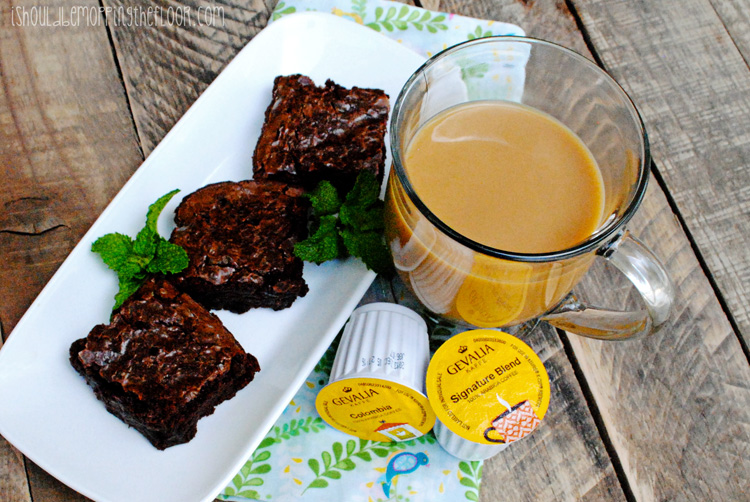 Coffee-Infused Brownies with Gevalia Single Serve Coffee #CupOfKaffe #cbias