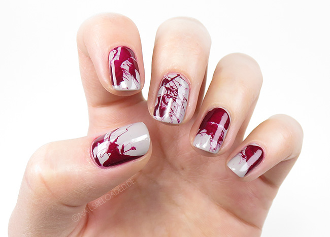[Nageldesign] Blutspritzer Zu Halloween - Nails Reloaded By Naileni - Mein Blog U00fcber Nagellack ...
