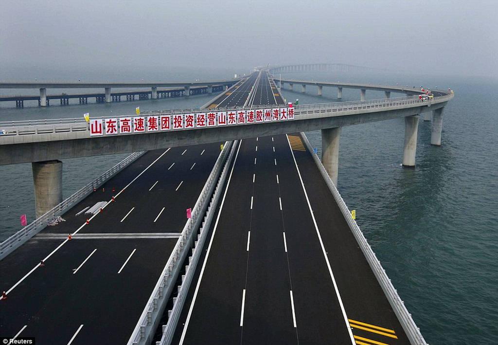 Danyang Kunshan Grand Bridge - World s Longest BridgeLongest Bridge In The World Over Water