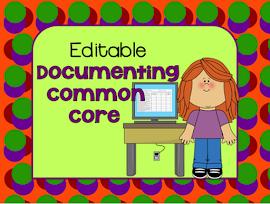 Editable Documenting Common Core