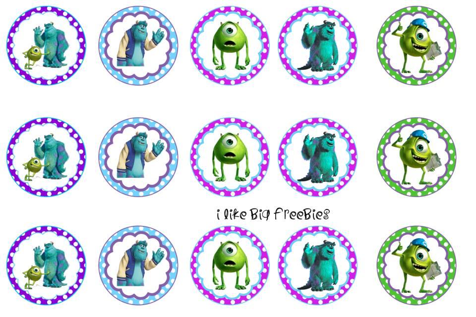 Monsters inc freebies