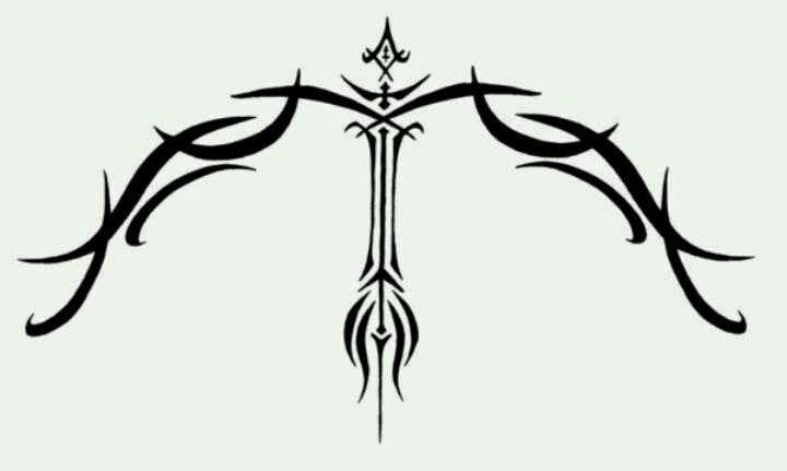 Diseño Tatuaje tribal signo Sagitario 02