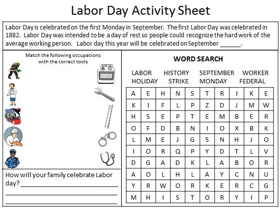 Influential image within labor day printable
