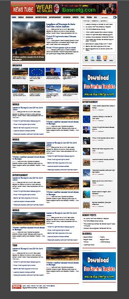 News Tube Blogger Premium template